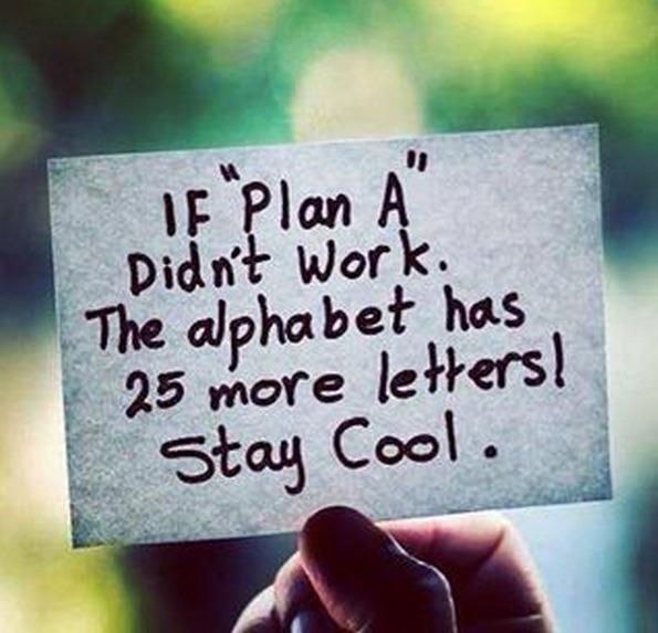 Ιf a Plan A...